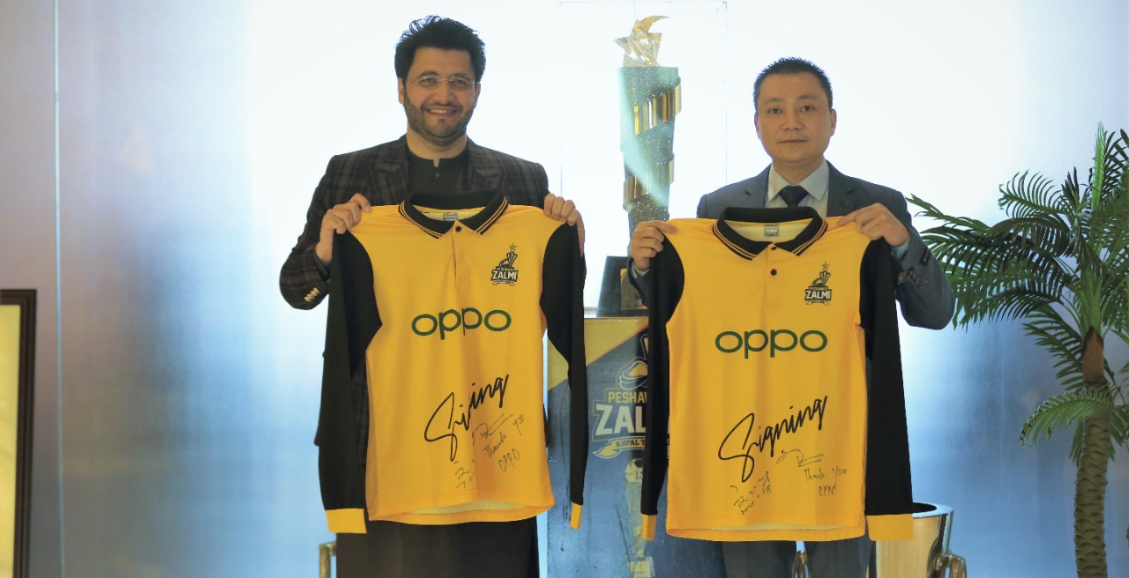 OPPO Signed as Peshawar Zalmi's Sponsor for PSL 6