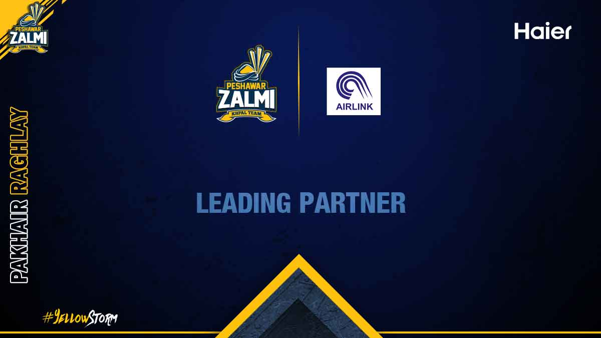 Announcing Airlink as Peshawar Zalmi'sLeading Partner for PSL 5