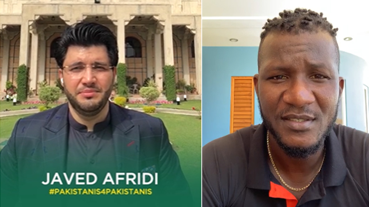 Darren Sammy, Javed Afridi | PM IK Corona Relief Fund