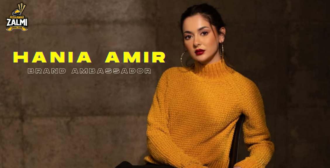 Leading Model and Actress Hania Amir Peshawar Zalmi Appointed Ambassador