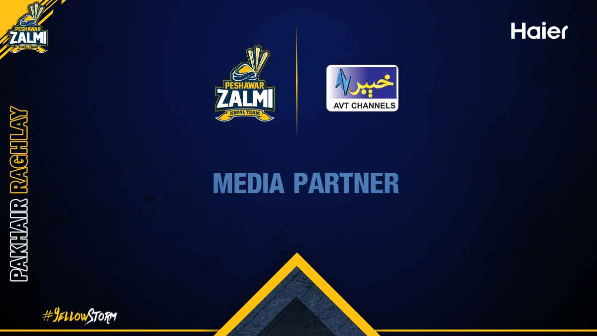 Peshawar Zalmi proudly announces its Regional Media Partner (AVT Khyber)