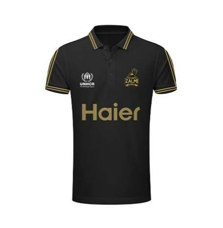 Peshawar Zalmi's Official Polo - Black