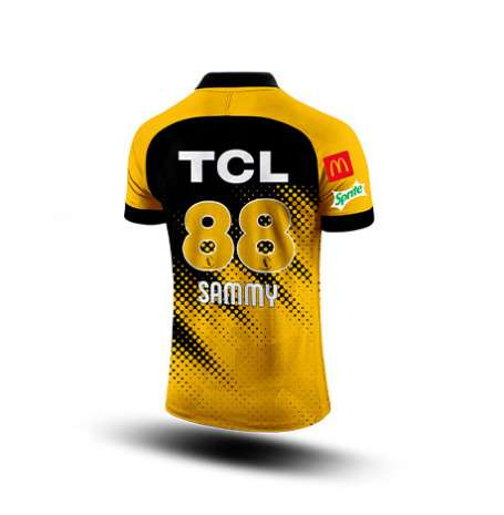 Zalmi Official Yellow Jersey (Customize)
