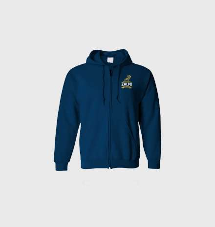 Peshawar Zalmi's Official Hoodie (Zipper) – Navy Blue