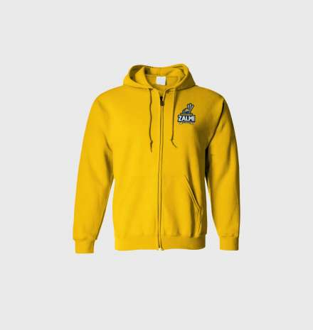 Peshawar Zalmi's Official Hoodie (Zipper) – Yellow